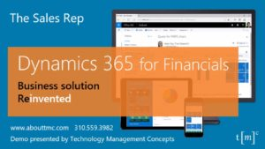 dynamics 365 demo for sales rep